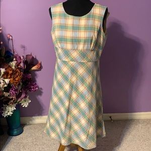 Brooks Brothers 346 plaid cotton dress. 12
